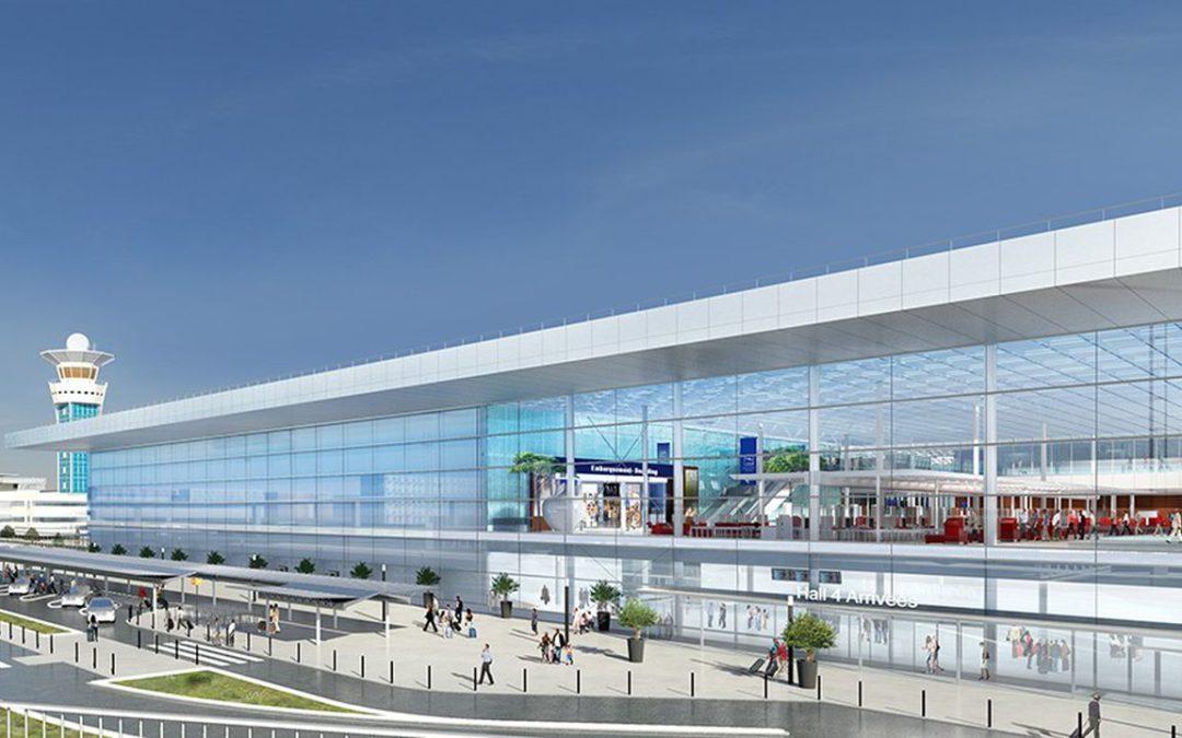 La gare multimodale de l'aéroport d'Orly en construction